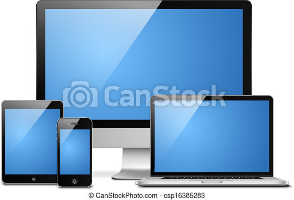 Line Art Laptop : Data storage laptop and files d image of renderer stock
