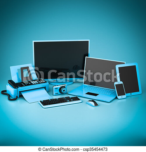 Laptop, Tablet PC and Smartphone - csp35454473