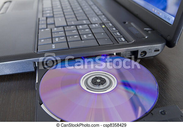 laptop, załadowczy, software - csp8358429