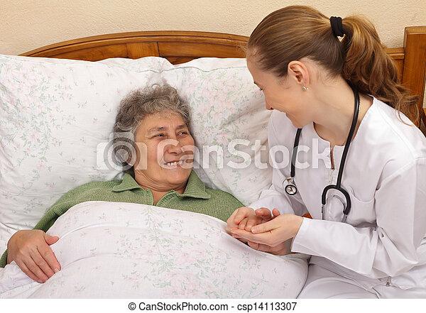 lar, cuidado idoso - csp14113307