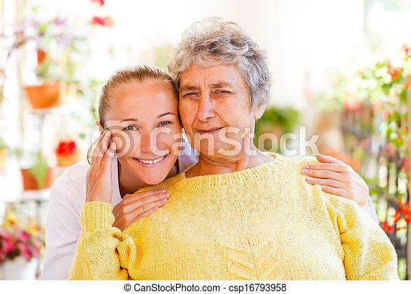 lar, cuidado idoso - csp16793958