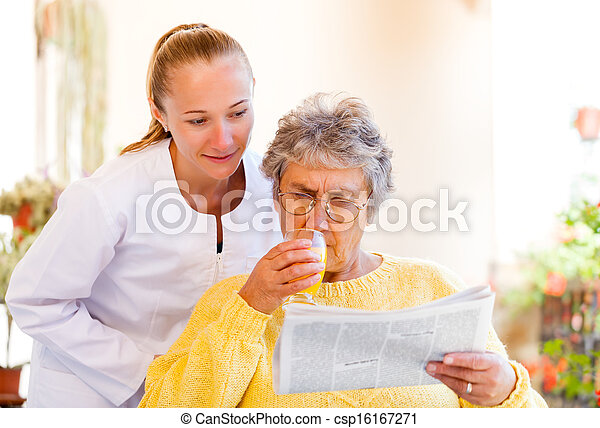 lar, cuidado idoso - csp16167271