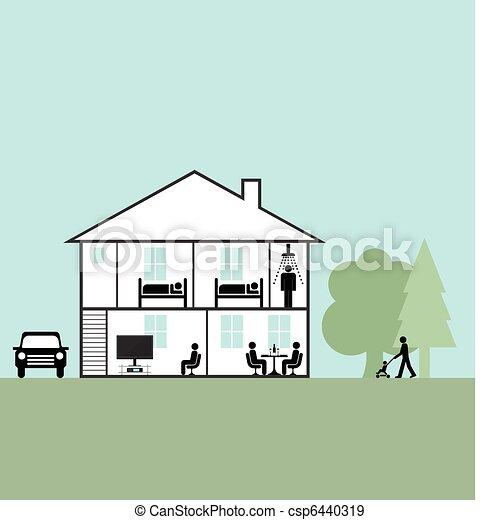 lar, família - csp6440319