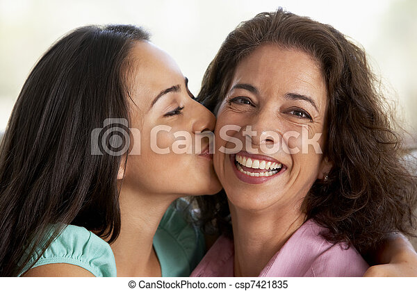 lar, filha, junto, mãe - csp7421835