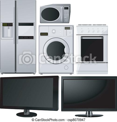 lar, jogo, eletrodomésticos - csp8070947