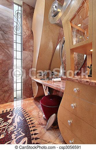 lar, luxo, banho - csp3056591