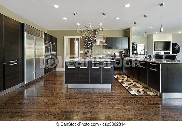 lar, luxo, cozinha - csp3302814