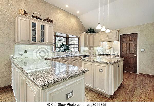 lar, luxo, cozinha - csp3056395