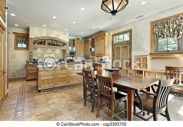 lar, luxo, cozinha - csp3393705