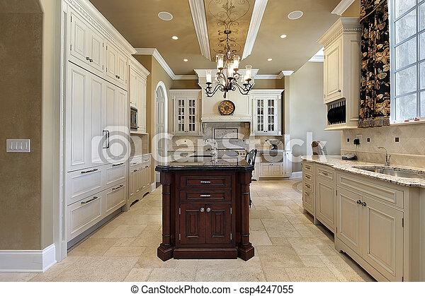 lar, luxo, cozinha - csp4247055