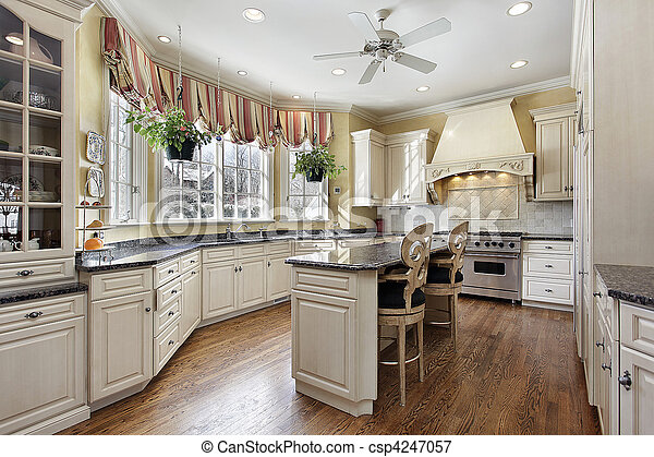 lar, luxo, cozinha - csp4247057