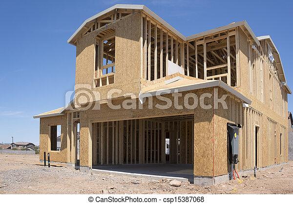 lar, novo, construção, sob - csp15387068