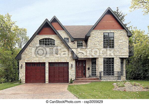 lar, novo, construção, sob - csp3055629
