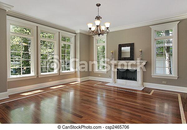 lar, vivendo, construção, sala, novo - csp2465706
