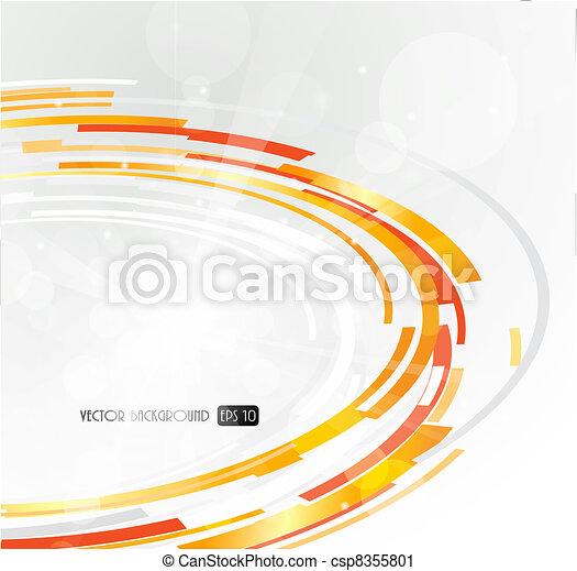 laranja, abstratos, circle., futurista, 3d - csp8355801