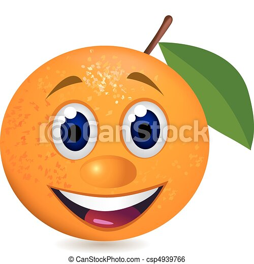 laranja, caricatura - csp4939766
