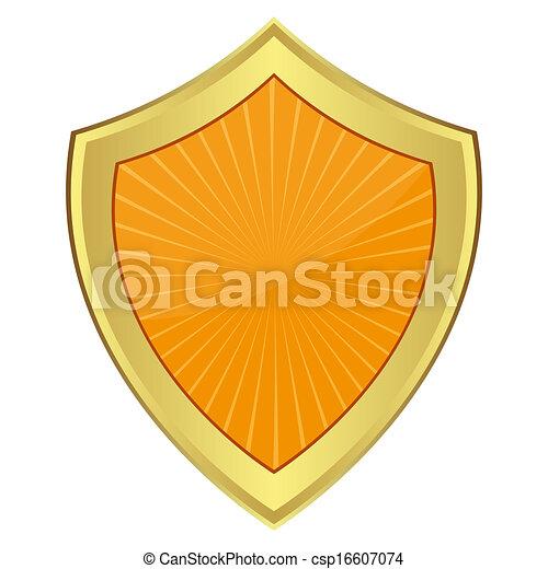 laranja, escudo - csp16607074