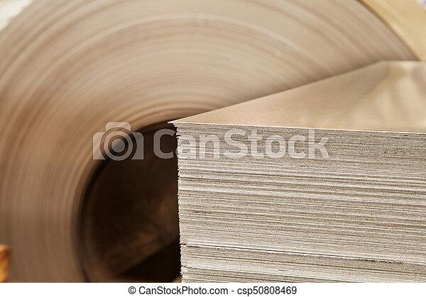 Large aluminium steel rolls in the factory - csp50808469