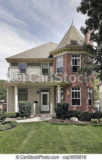 Large brick home - csp3055616