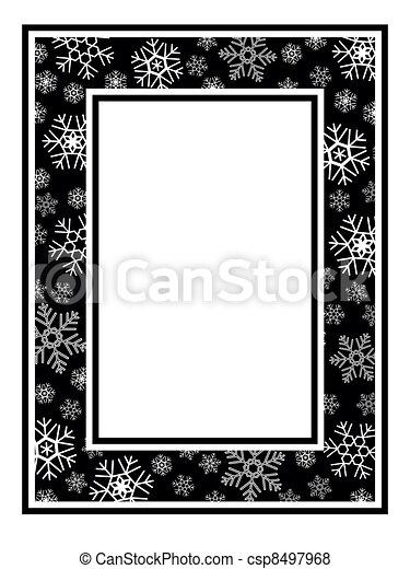 large cadre no l mod le flocon neige large mod le cadre no l noir snowflake blanc. Black Bedroom Furniture Sets. Home Design Ideas