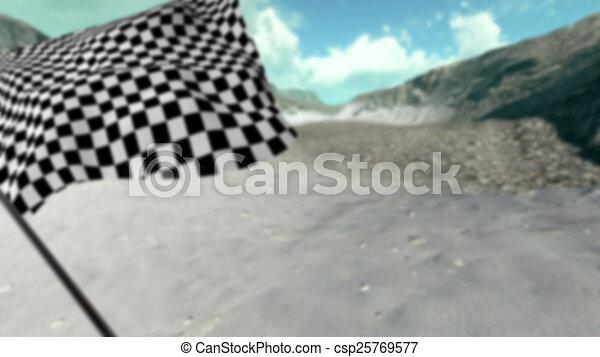 Large Checkered Flag - csp25769577
