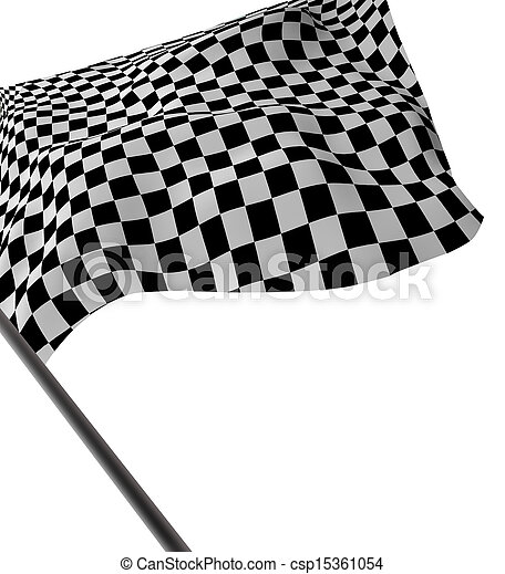 Large Checkered Flag - csp15361054