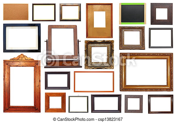 Large collection of frames. Large collection of different types of ...