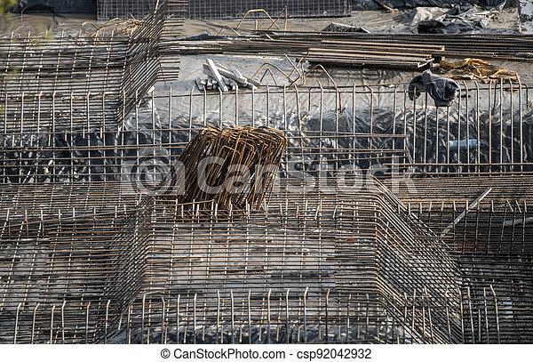 Large Commercial Building Steel Reinforcement - csp92042932