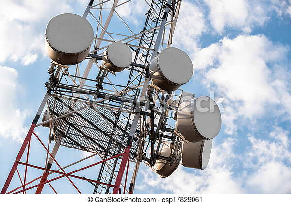 Large Communication tower against sky - csp17829061