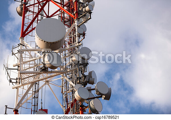 Large Communication tower against sky - csp16789521