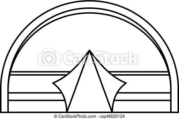 Large Dome Tent For C&ing Icon Outline Style Vector  sc 1 st  Can Stock Photo & Large dome tent for camping icon outline style. Large dome ...