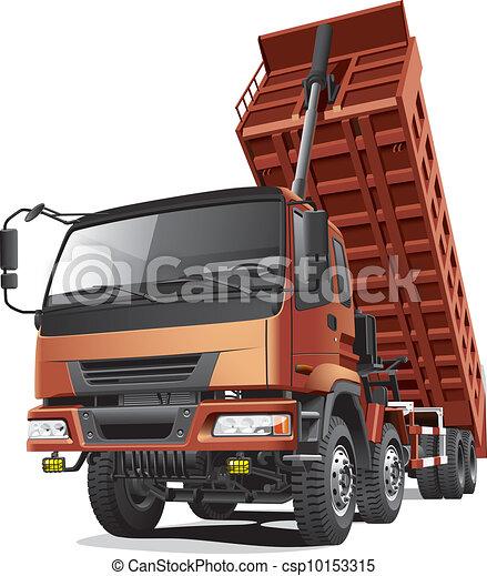 large dumper in action - csp10153315