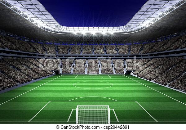 large football stadium with lights digitally generated large rh canstockphoto com football stadium background clipart American Football Field Clip Art