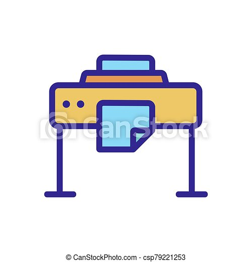 large format printer icon vector outline illustration large format printer icon vector large format printer sign color can stock photo