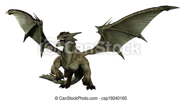 Large Green Dragon - csp19240165