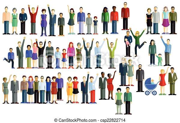 large group, národ - csp22822714