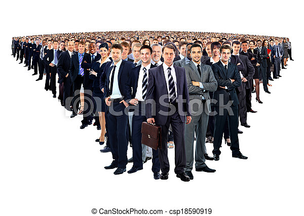Large group of businesspeople - csp18590919