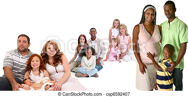 Large Group of Families - csp6592407