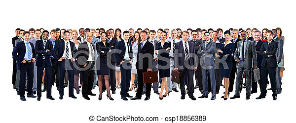 Large group of people full length isolated on white - csp18856389