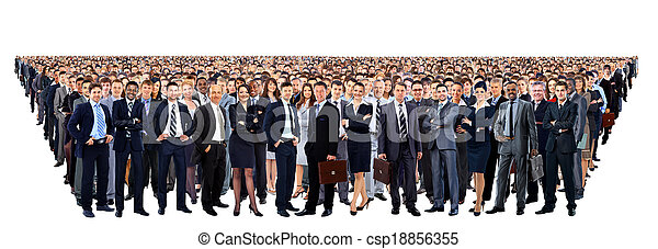 Large group of people full length isolated on white - csp18856355