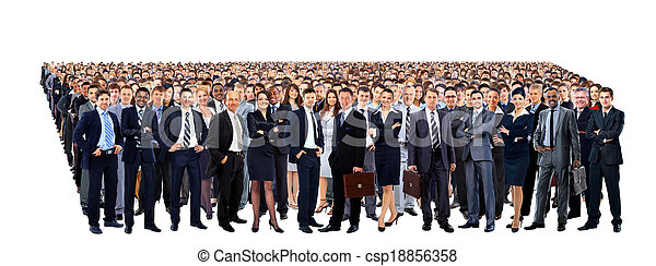 Large group of people full length isolated on white - csp18856358