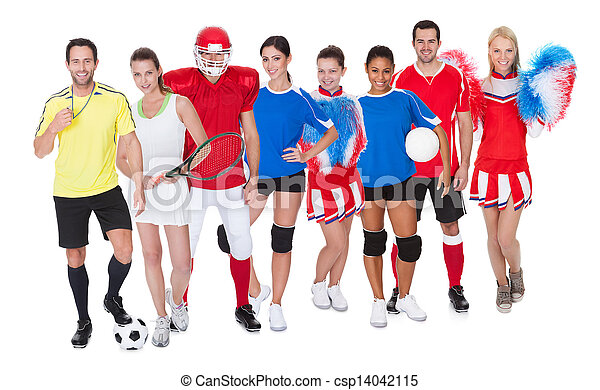 Large group of sports people - csp14042115