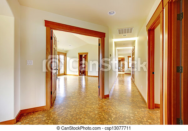 large hallway in empty house new luxury home interior large