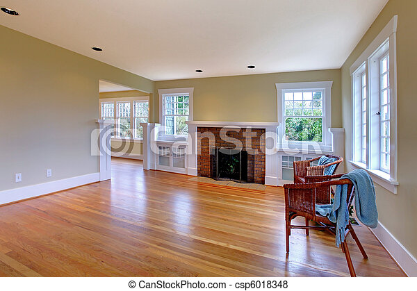 Large historical empty living room - csp6018348