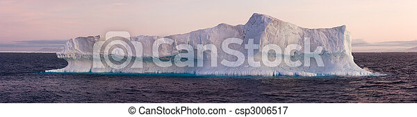 Large Iceberg Floating in Sea - csp3006517