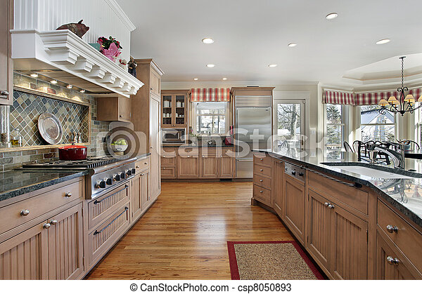 Large kitchen in modern home - csp8050893