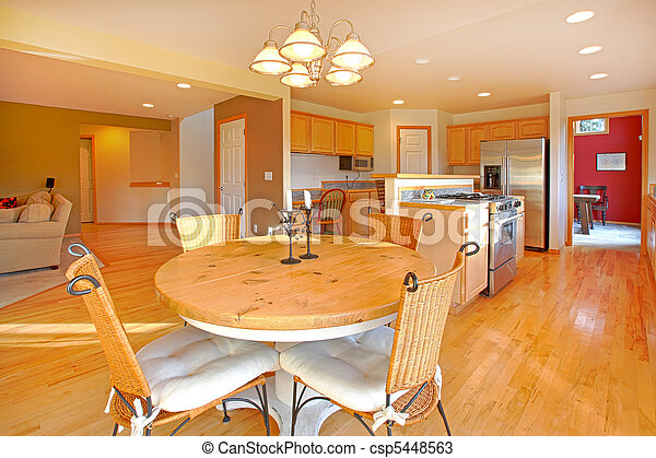 Large kitchen with breakfast area - csp5448563