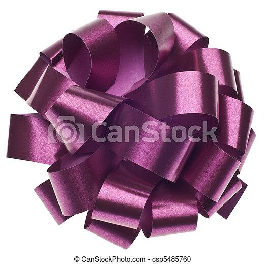 Large Metallic Purple Gift Bow - csp5485760