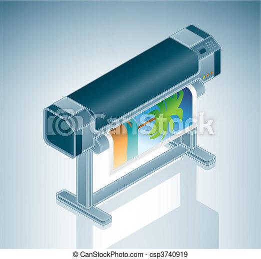Large Photo Printer / Plotter - csp3740919