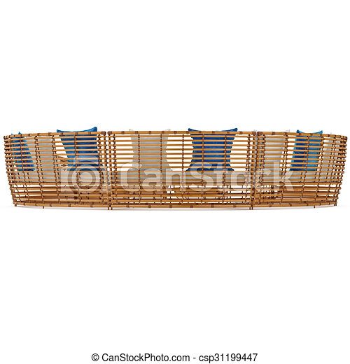 Enjoyable Large Rattan Sofa Back View 3D Graphic Ocoug Best Dining Table And Chair Ideas Images Ocougorg
